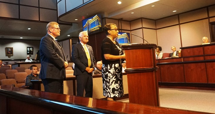 bob honored by ches city council with mayor august 2018
